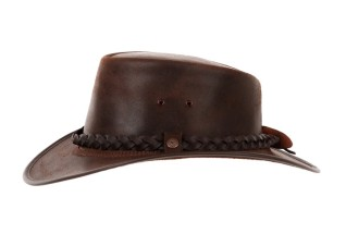 Brown Australian leather hat €95.00 www.hatshop.ie