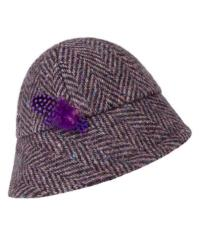 Kilkenny Shop Evelyn The Arty Weaver Mauve Fleck Herringbone Tweed 1920 Brim Hat, €69.95