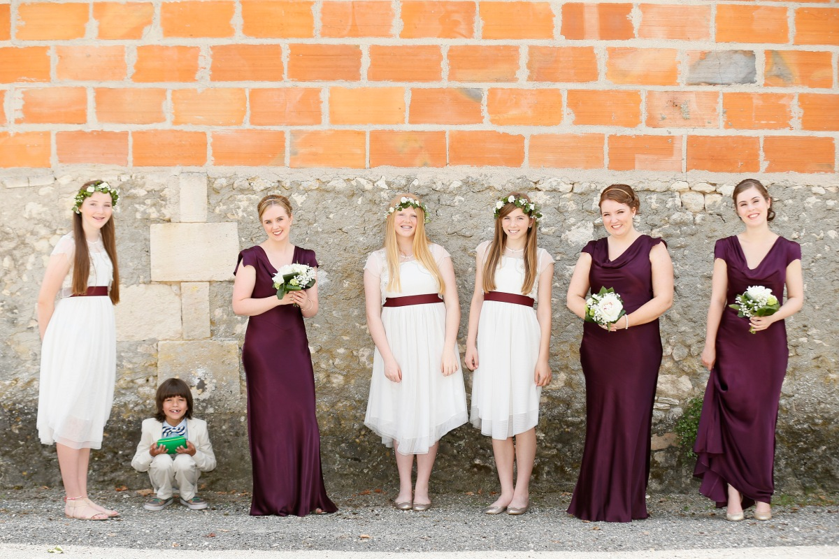 Bridal party wedding in France
