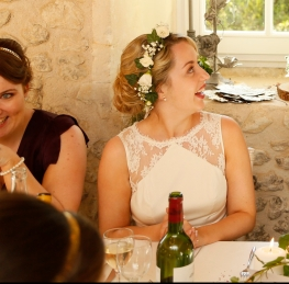 Floral crown - bride at wedding in France