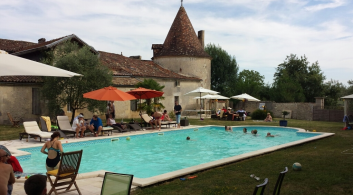 Chateau de Purigaud pool party wedding in France