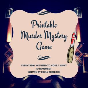 Printable murder mystery game