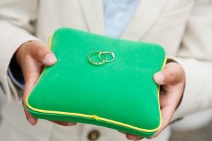 Wedding ring bearer green box