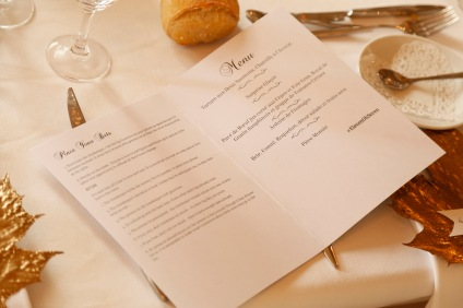 Printable wedding menu