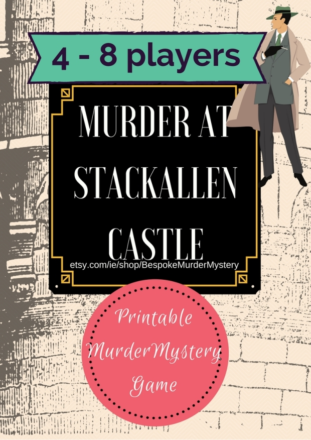 Murder at the Castle Etsy shop listing 4 - 8 players