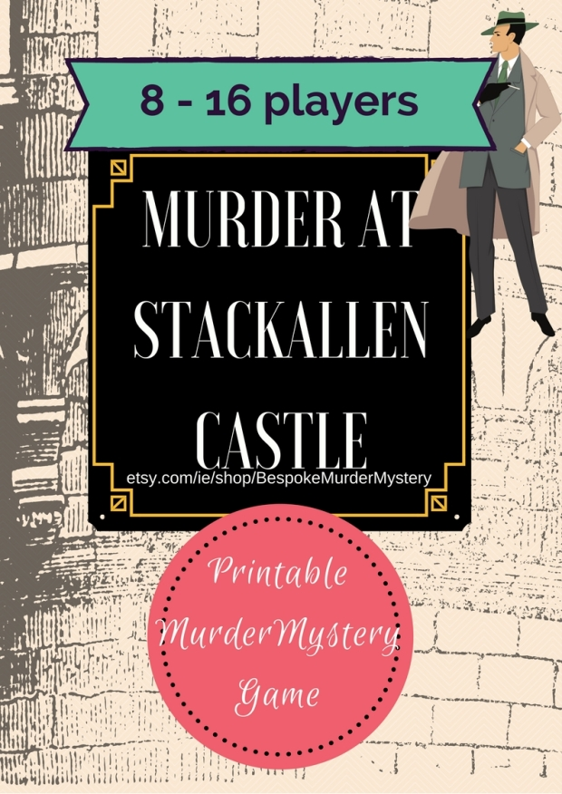 Murder at the Castle Mystery Dinner Party Game 8 - 16 players // special occasion game // birthday party game // personalised game //