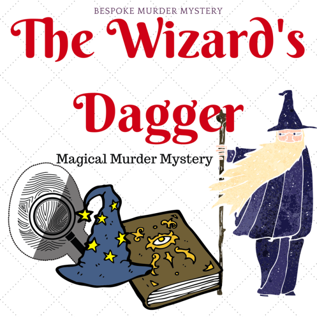 The Wizard's Dagger // Wizard Murder Mystery Game 4 - 20 players // Fantasy magic murder mystery // clean murder mystery // printable